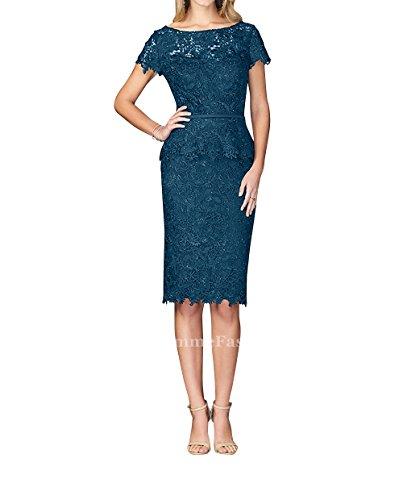 Fesltichkleider Abendkleider Blau Brautmutterkleider Knielang Dunkel Brau La Spitze Etuikleider Partykleider mia Kleider Standsamt Kurzes 1pqFnfP