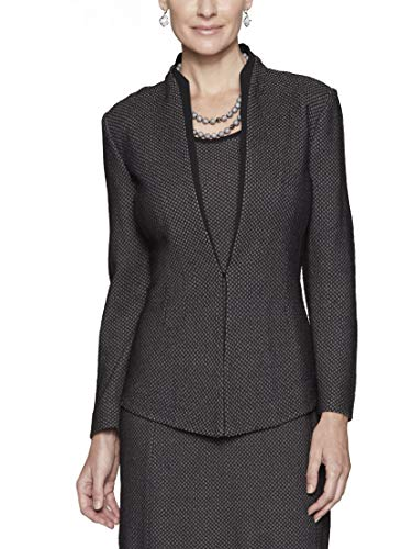 MISOOK Gray Honeycomb Pattern Jacket with Black Accent