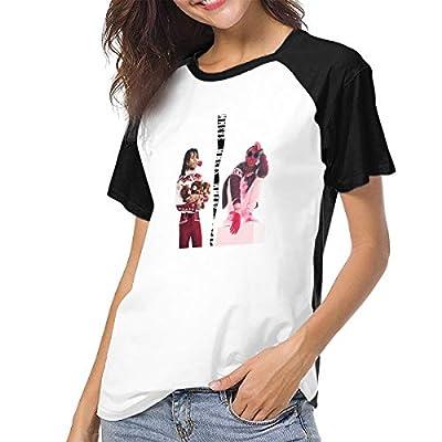 Womens Short Sleeve Raglan Baseball T-Shirts Rae Sremmurd Music Band