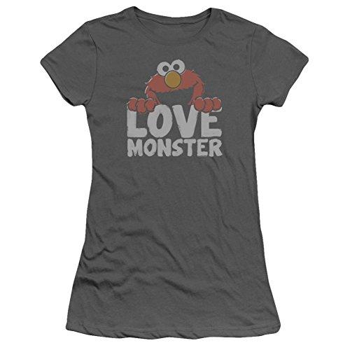 Juniors: Sesame Street- Elmo Love Monster Juniors (Slim) T-Shirt Size S (Elmo T-shirt Loves Street Sesame)