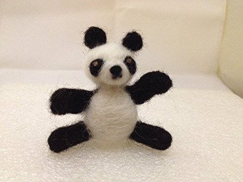 Needle Felted Bear (Needle Felted Panda Bear OOAK Wool Doll Miniature)