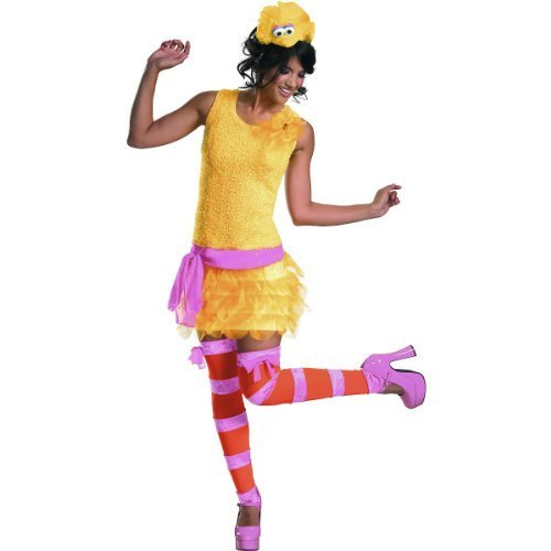 Big Bird Sassy Adult Costume - Small