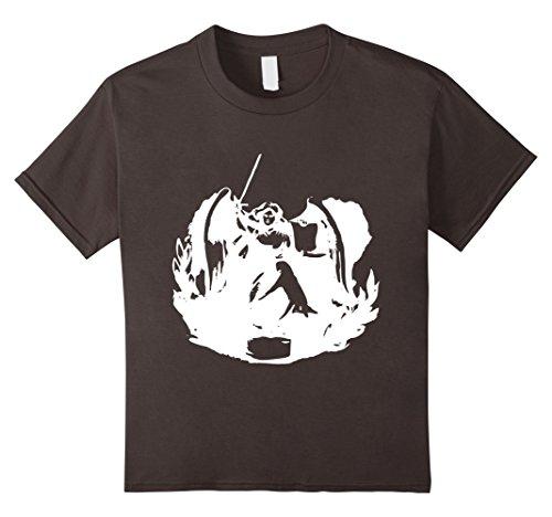 Kids Victory Goddess Symbol Sketch T-Shirt 4 Asphalt (Victory Goddess)