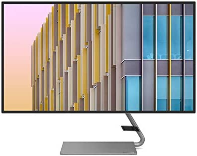 Lenovo Q27h-10 68,58 cm (27 Zoll 2560x1440 WQHD 75Hz IPS matt) Monitor (HDMI, DisplayPort, 4ms Reaktionszeit, AMD FreeSync) grau