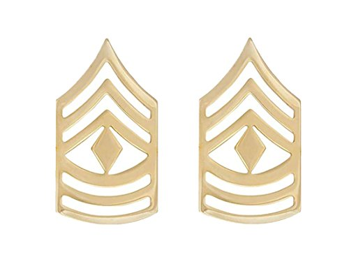 Sergeant Rank Military (U.S. Army Shiny Non-Subdued Enlisted Rank (E-8 1ST SERGEANT))