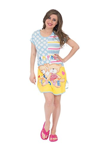 Estella Collection (Estella Collection Women's l Sweet Cartoon Printed Nightdress)