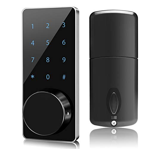 Smart Lock,Manhaoya Smart Electronic Door Lock with keyless,Touchscreen,Mechanical Keys Enabled Auto Lock Alarm Technology for Home,Hotel,Apartment and Office (Without WiFi)