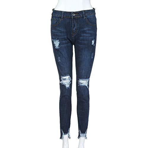 Alto Lunaanco Talle de elásticos de Vaqueros Mezclilla Pantalones con de para Alta Jeans Mujeres Cintura Talle Alto XwrtZrq