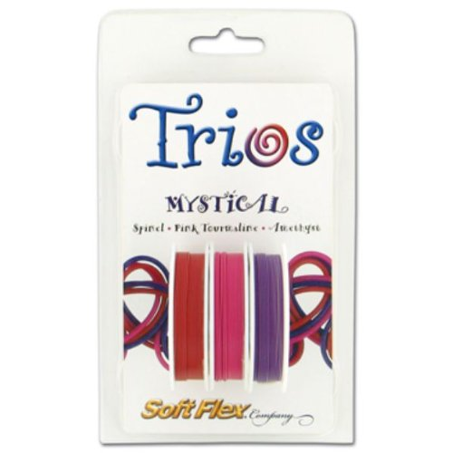 (Soft Flex Trio Bead Wire, Mystical, 0.019 Inch, 10 Feet, Pack of 3 |)