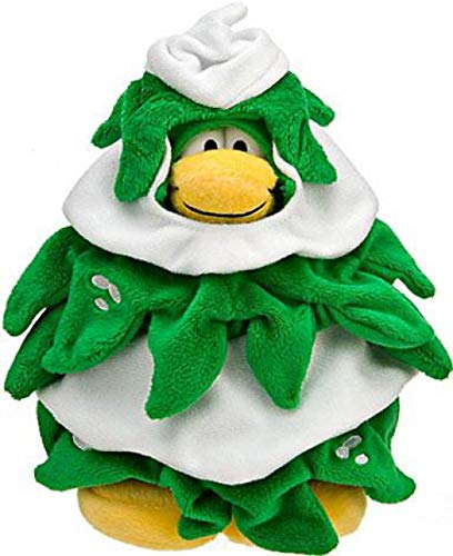 Disney Club Penguin 6.5 Inch Series 10 Plush Figure Christmas Tree Includes Coin with ()