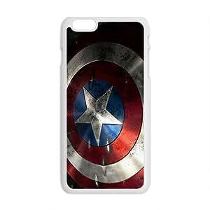 QQQO Captain America Shield Brand New And Custom Hard Case Cover Protector For Iphone 6 Plus Kimberly Kurzendoerfer
