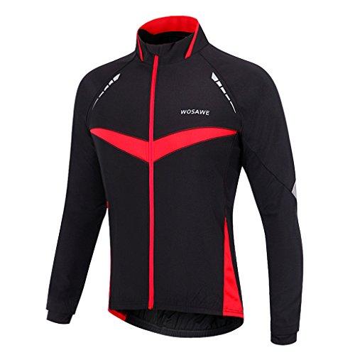 日焼け練るセーターFenteer スポーツウェア  ユニセックス ジャージー  サイクリング ジャケット  冬  ロングスリーブ  自転車  軽量  全5サイズ
