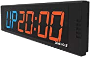 Synergee Premium LED Programmable Crossfit Interval Wall Timers Gym Timers with Wireless Remote. Tabata, EMOTM