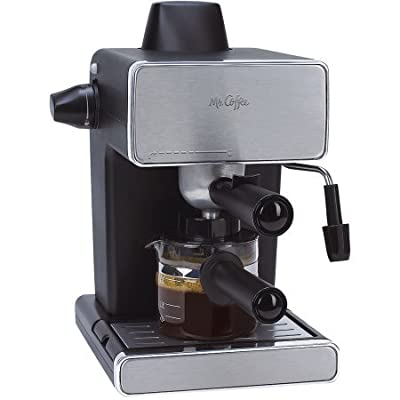 Mr. Coffee Espresso Maker, Stainless Steel and Black, BVMC-ECM260 / Powerful milk frother