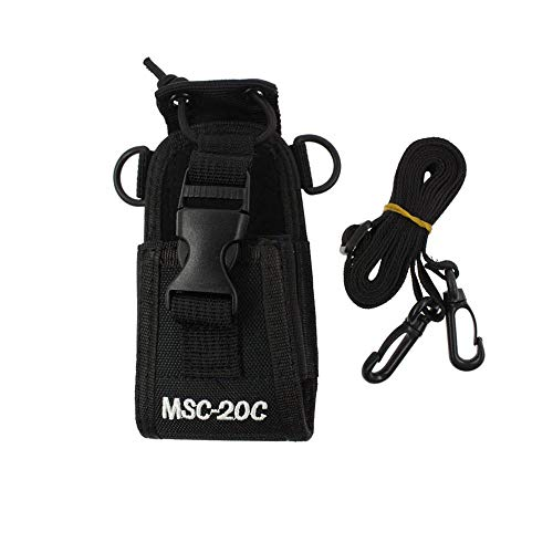 Saigain Nylon Radio Case Holder for Kenwood/Yaesu/Icom MotorolaGP338+/344/328/ Baofeng BF-666S/777S/888S, Black