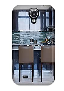 Ultra Slim Fit Hard ZippyDoritEduard Case Cover Specially Made For Galaxy S4- Small Kitchen With Lacquered Cabinets