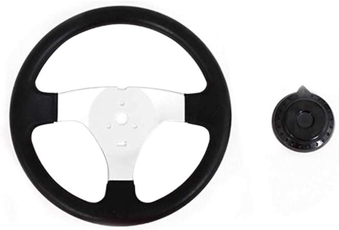 Go Kart ZHINAN Off-Road Kart Steering Wheel Black 270mm 3 Spokes Vehicle PU Foam Interior Steering Wheel with Three Mounting Holes Universal for ATV