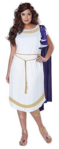 POPLife Grecian Toga Greek Roman Goddess Plus Size Costume (Greek Goddess Plus Size Costume)