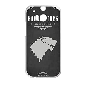 HTC One M8 Cell Phone Case White Game Of Thrones House Stark LSO7751937
