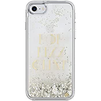 kate spade new york Liquid Glitter Clear Case for iPhone 7 - Gold / Pop Fizz Clink