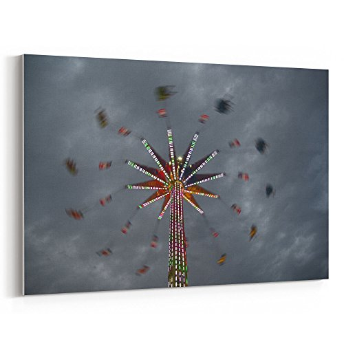 Westlake Art - Fairground Lights - 24x36 Canvas Print Wall A