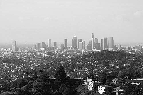 ロサンゼルスの壁紙-世界の壁紙-#38069 - 白黒の キャンバス ステッカー 印刷 壁紙ポスター はがせるシール式 写真 特大 絵画 壁飾り50cmx33cm