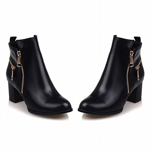 Latasa Kvinna Chunky Klackar Fotled Hög Chukka Boots Svart