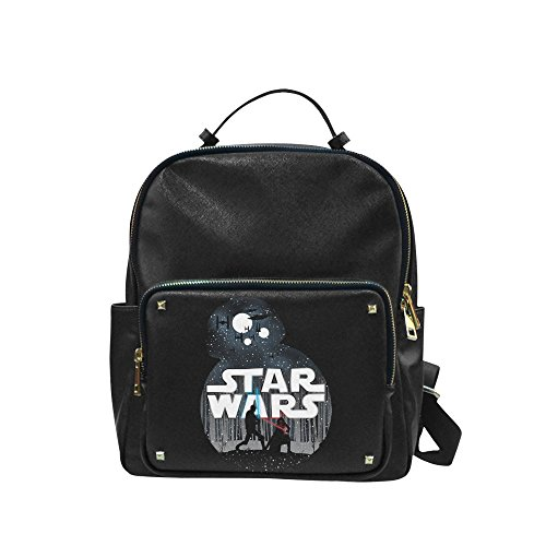 [Navarro Star Wars BB8 Robot Unisex Leisure Backpack School Leisure Shoulder Bag] (Luke Skywalker Dark Side Costume)