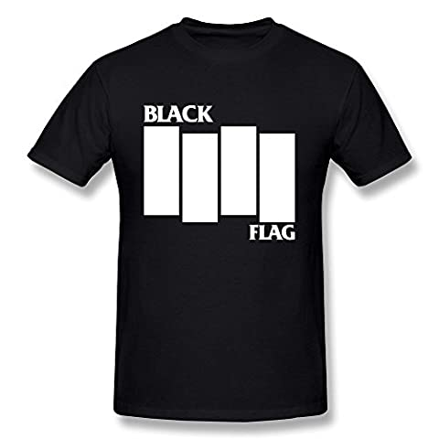 M07H Men's Tshirt Black Punk Flag Everything Went Black Black Size M (Jake Wii)