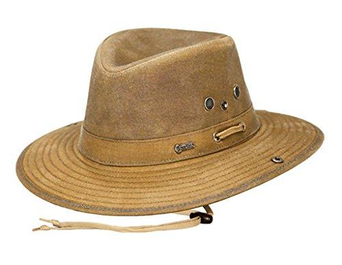Outback Trading Oilskin River Guide Hat, Field Tan, L