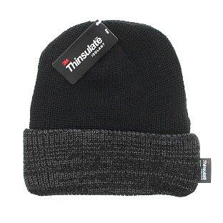 Milani Thinsulate 40 Gram Windchill Insulated Winter Cold Weather Beanie Skull Cap (Black/Grey Cuff)