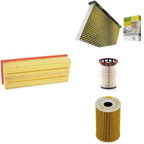 Mann-Filter Service Paket mit 1x Luftfilter C35154 1x /Ölfilter HU7008Z 1x Freciousplus Innenraumfilter FP2939 1x Kraftstofffilter PU 8008//1