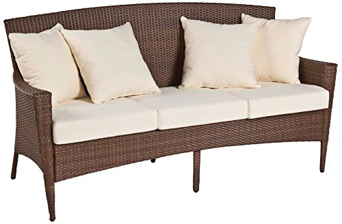 (Panama Jack PJO-7001-ATQ-SF Key Biscayne Woven Sofa with Cushions, Sunbrella Spectrum Graphite)