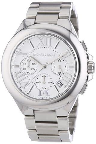 Michael Kors MK5719 Women's Chronograph Camille Stainless Steel Bracelet Silver Watch (Michael Kors Bradshaw Watch 43mm)