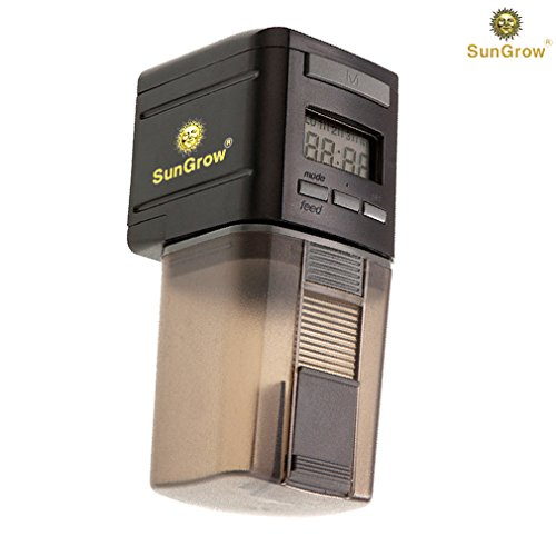 SunGrow Automatic Fish Feeder - Easy To Install on Fish Tank - Never miss any feeding time - Ideal for vacation, weekend getaway by SunGrow