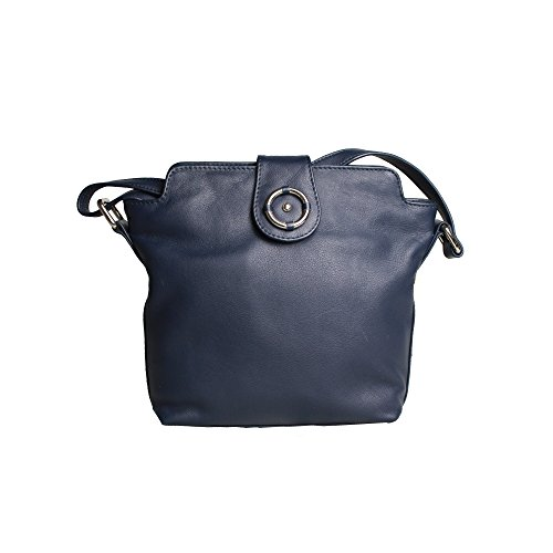 Marino Mujer Cuero Modelo Penny Decorativo Anillo Leather Bolso Para Counties De Eastern Con Azul wOPTqnF