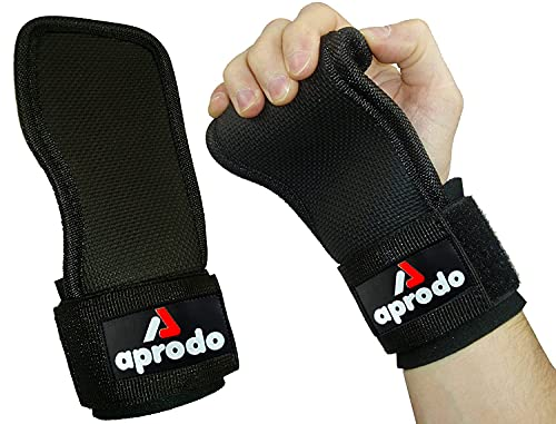 APRODO Adjustable Weight Lifting Wrist Support Hand Grips with Neoprene
