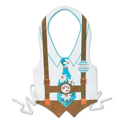 Pkgd Plastic Oktoberfest Vest Party Accessory (1 count) (1/Pkg) (Vest Plastic)