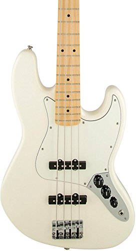 Fender Standard Jazz Electric Bass Guitar - Maple Fingerboard, Arctic White