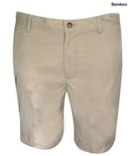Greg Norman Flat Front Shorts - Greg Norman Golf- Natural Performance Flat Front Shorts