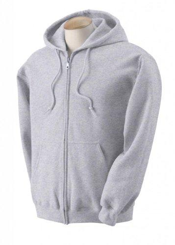 Gildan Adult Heavyweight Blend Full-Zip Hooded Sweatshirt - Ash, 2XL