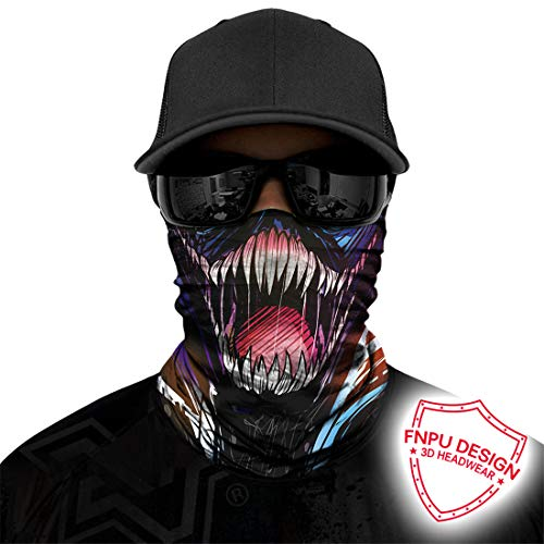 Motorcycle Face Mask Sun Dust Wind Protection Durable Tube Mask Seamless Skeleton Face Mask for Men Women