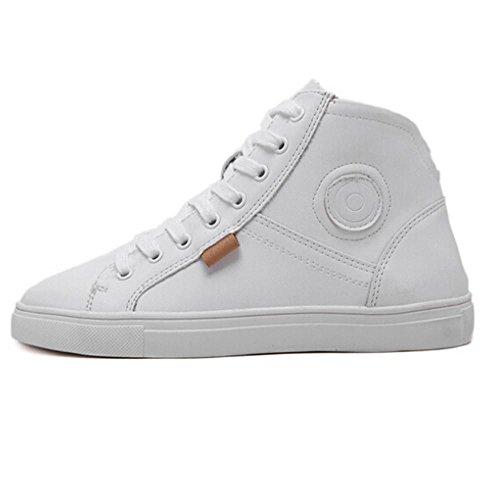 Clode® Mode-Fälle Schuh-flache Spitze Rund Hohe Schuhe Weiß