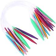 SUPVOX 12 peças 40 cm Agulhas circulares de tricô agulhas de tricô, agulhas de tricô, suprimentos de plástico