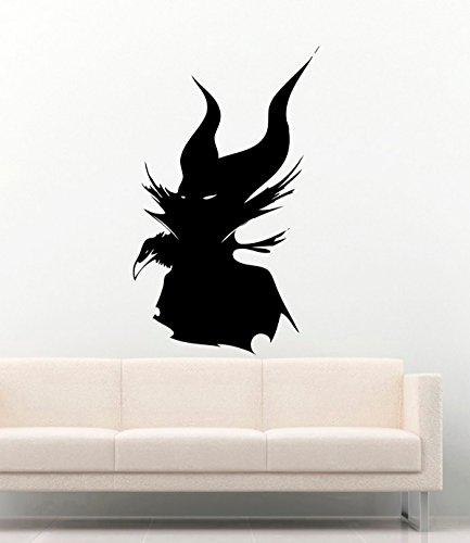 Famous Person Vinyl Wall Decals Movie Film Cartoon Silhouette Maleficent Stickers Vinyl Decor Murals MK3655]()