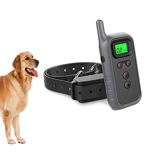 FXQIN Dog Training Collar - Rechargeable Dog Shork Collar, 3 Training Modes, Beep, Vibration and Shock, Waterproof Training Collar, Up to 300 Meters Remote Range
