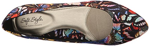 Wedge Multi Darlene US Soft Butterfly Brown Leather 10 Style Women's Grosgrain Bright by Mid Hush Puppies Pump M OXwYqgZw