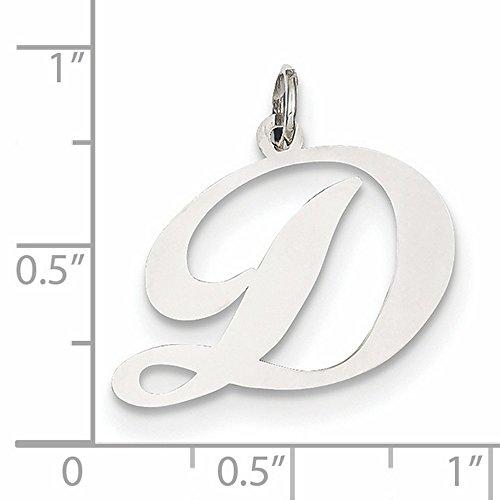 Mia Diamonds 14k White Gold Medium Script InitialI Charm