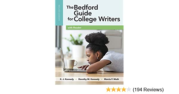 Bedford guide for college writers with reader, research manual.