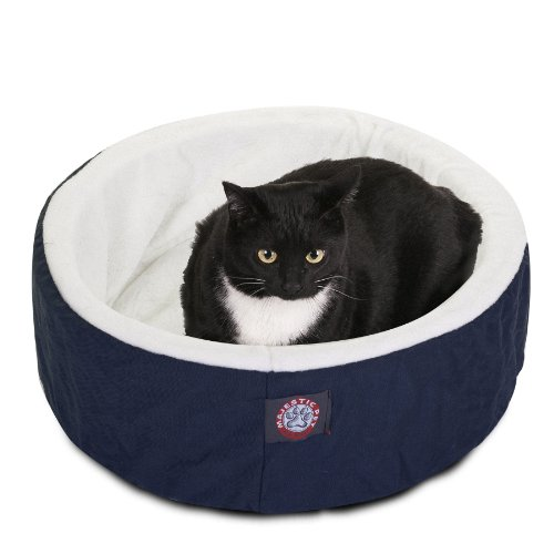 20 inch Blue Cat Cuddler Pet Cat Bed By Majestic Pet Products ()